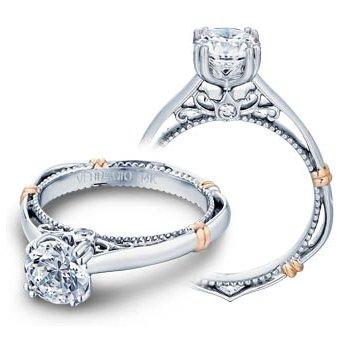 Verragio Parisian D-120 - 14k White and Rose Gold Diamond Engagement Ring by Verragio
