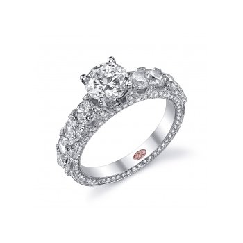Demarco DW5173 - 18k White Gold Engagement Ring by Demarco