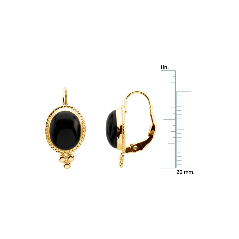 Signature Collection Genuine Onyx Earrings