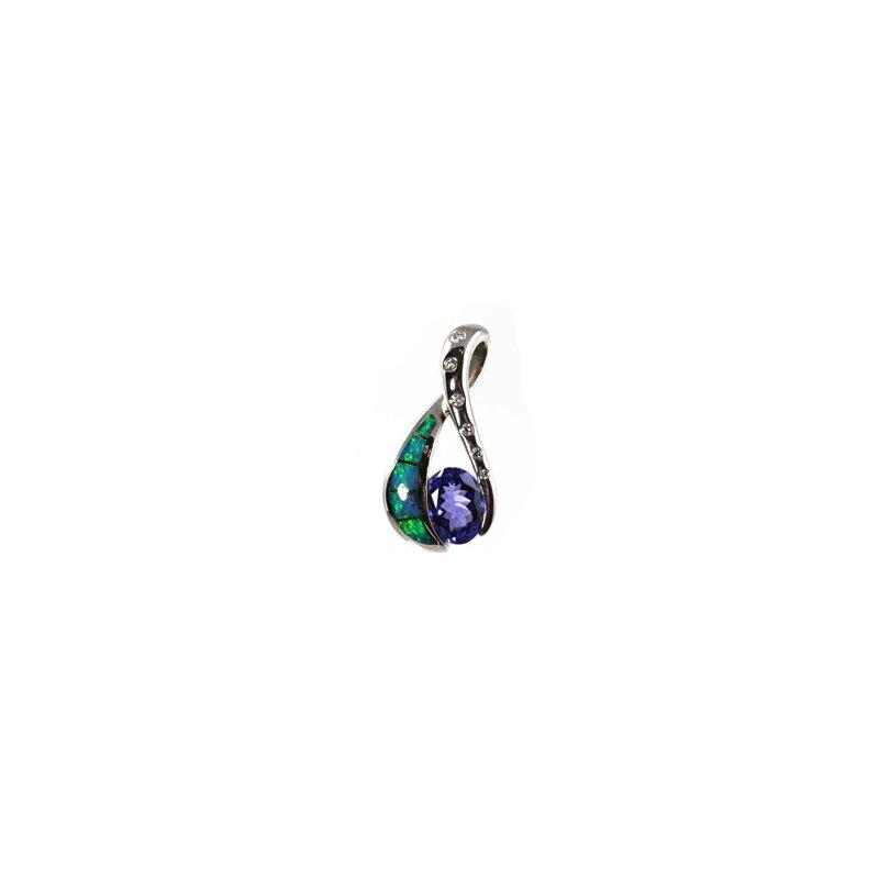 Kabana Jewelry Kabana Australian Opal, Tanzanite & Diamond Pendant