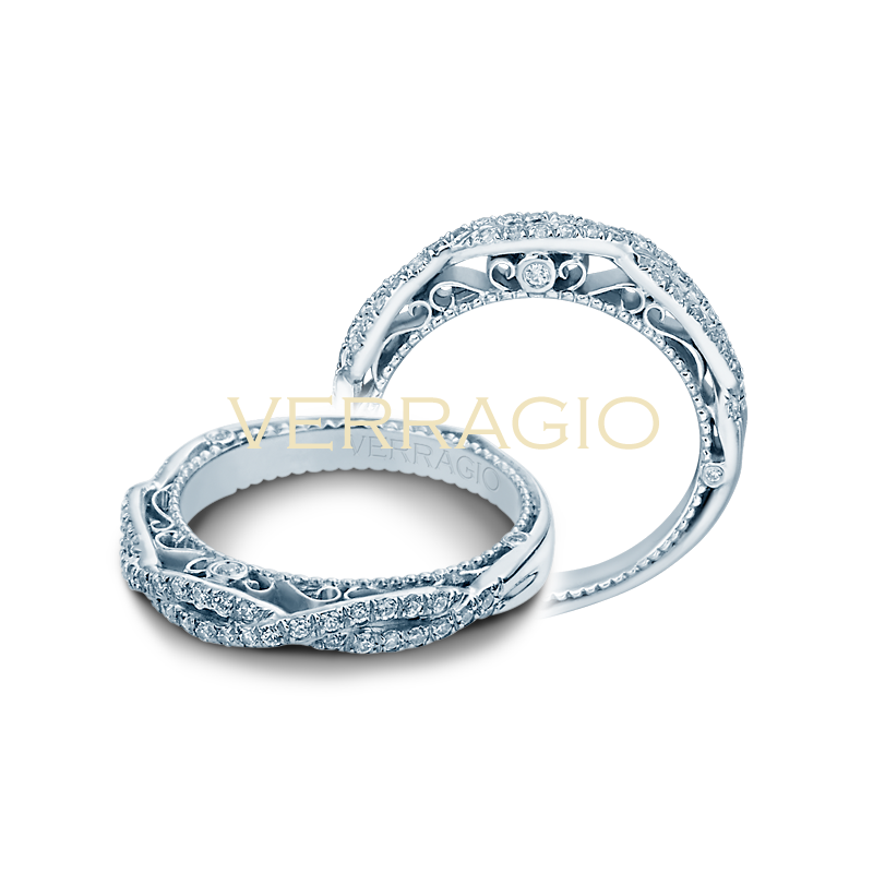 Verragio Verragio Venetian 5005W - Twist Diamond Wedding Ring