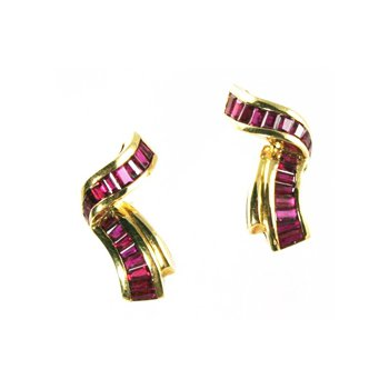 Genuine Ruby Earrings