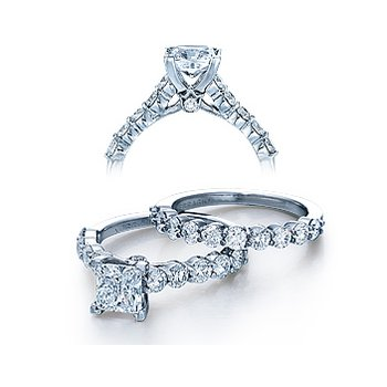 Verragio Couture 0410LP - 18k White Gold Diamond Engagement Ring by Verragio