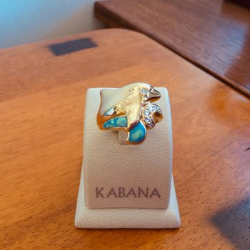 Kabana Australian Opal and Diamond Dolphin Ring - #34608