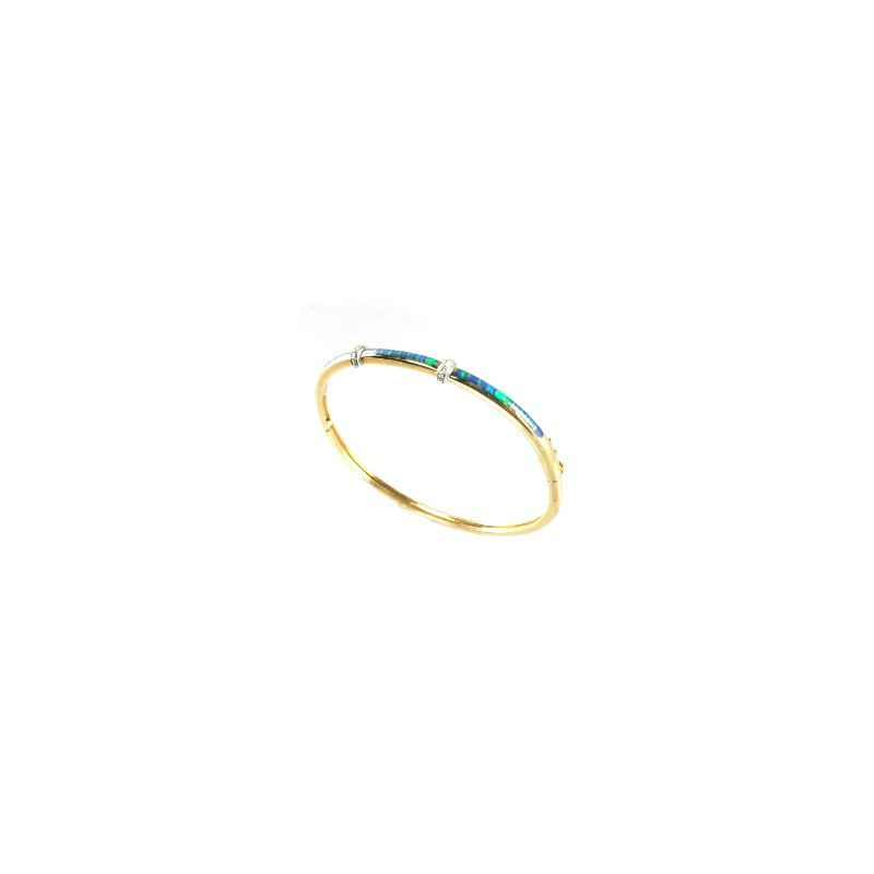 Kabana Jewelry Kabana Australian Opal Inlay & Diamond Bracelet