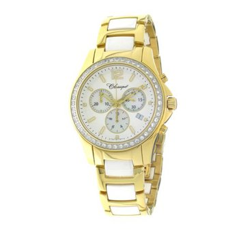 Classique Ladies' Chronograph White Ceramic Watch - #87-04GW