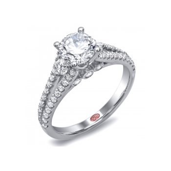 Demarco DW4653 - 18k White Gold Engagement Ring by Demarco