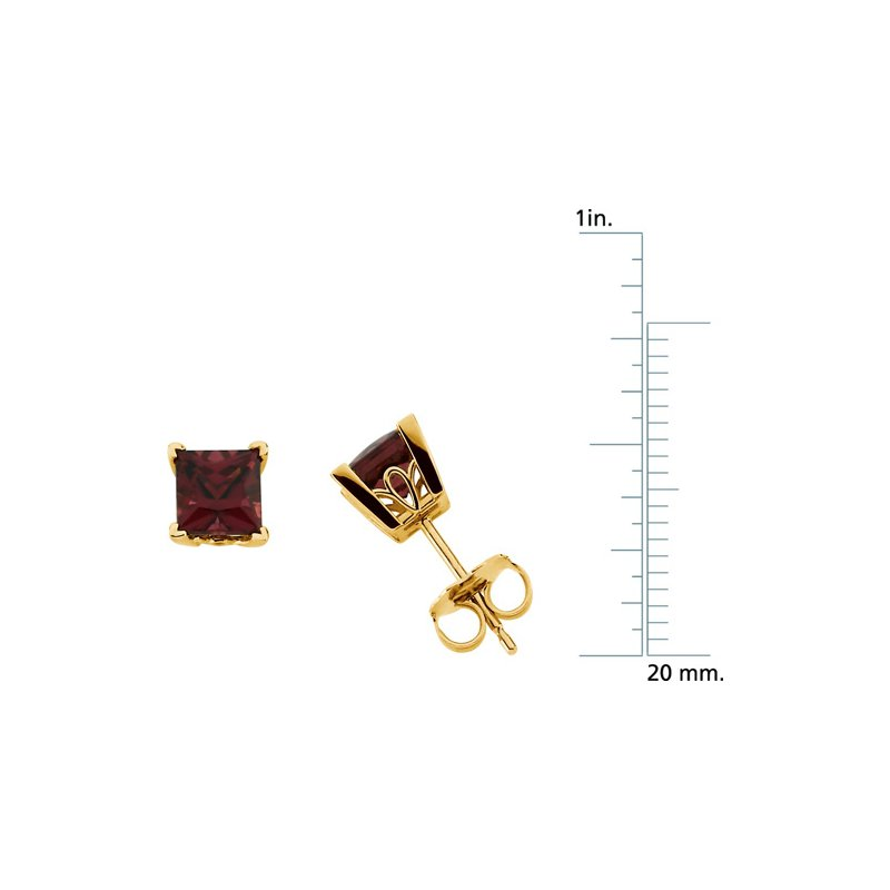 Signature Collection Genuine Rhodolite Garnet Earrings