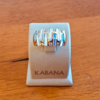 Kabana White Mother of Pearl and Diamond Ring #34467