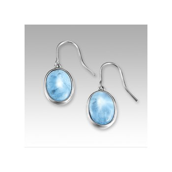 Marahlago Basic Collection Oval Larimar Dangle Earrings