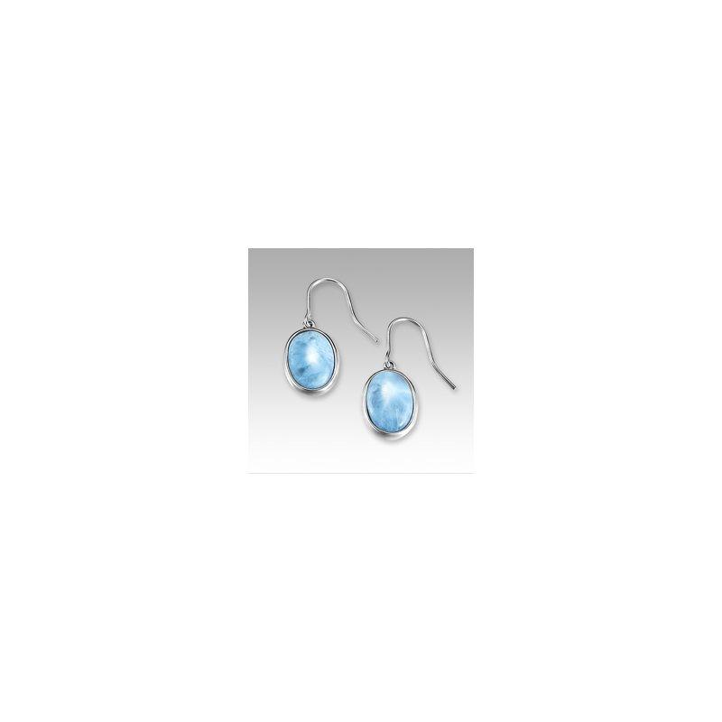 Marahlago Larimar Marahlago Basic Collection Oval Larimar Dangle Earrings