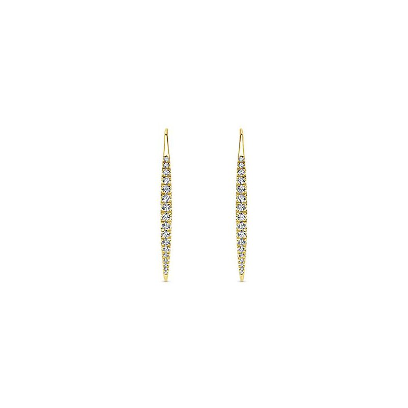 Signature Collection Diamond Fashion Earrings by Gabriel NY featuring an approximate 0.45cts of Diamonds