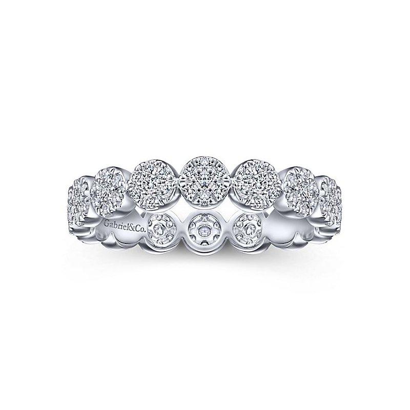 Gabriel NY 14k White Gold Circle Diamond Eternity Ring by Gabriel NY - Style # LR51478E