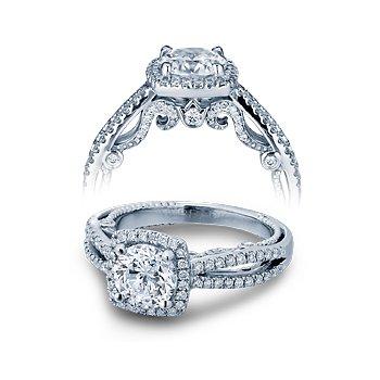 Verragio Insignia 7069CU - 18k White Gold Diamond Engagement Ring by Verragio