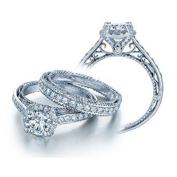 Verragio Venetian 5015R - 18k White Gold Diamond Engagement Ring by Verragio