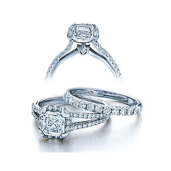 Verragio Couture-0378 - 14k White Gold Diamond Engagement Ring by Verragio