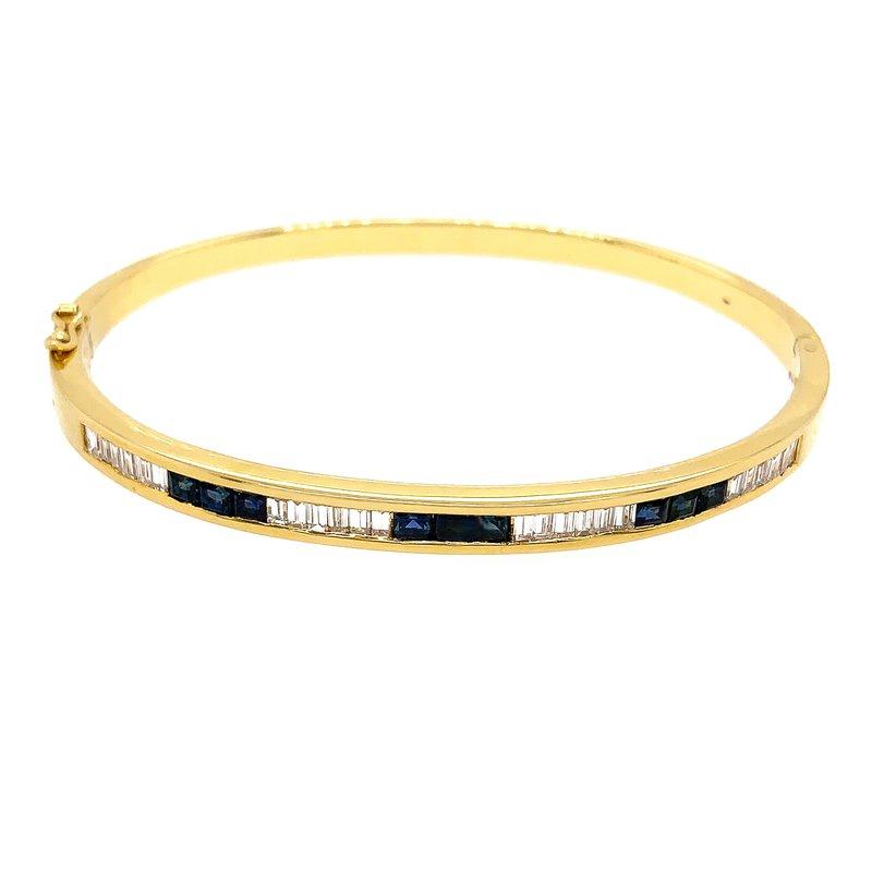 Signature Collection Genuine Blue Sapphire and Diamond Bracelet - 14491