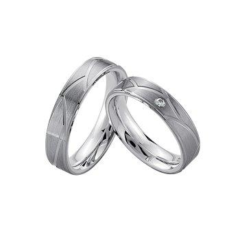 Palladium and Silver 5mm Wedding Band