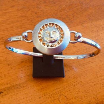 Sterling Silver and 18k Gold Plate Celestial Sunshine Bracelet Topper