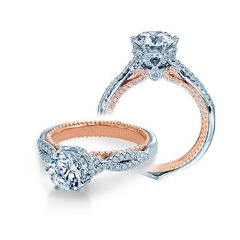 Verragio Couture 0451 R-2WR - 18k White and Rose Gold Diamond Engagement Ring