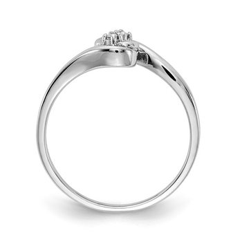 From the Promise Ring Collection 14k White Gold delicate Bypass Diamond Ring