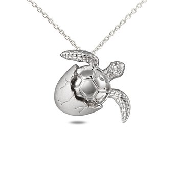 Sterling Silver Turtle Hatchling Pendant
