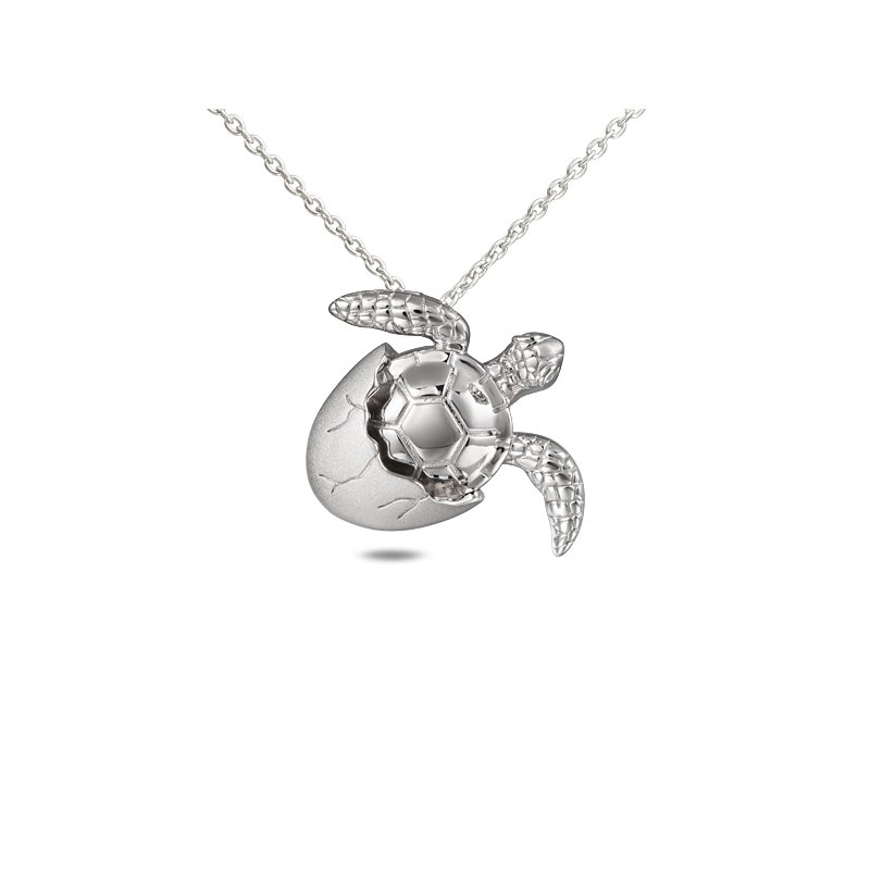 Sealife Jewelry Sterling Silver Turtle Hatchling Pendant
