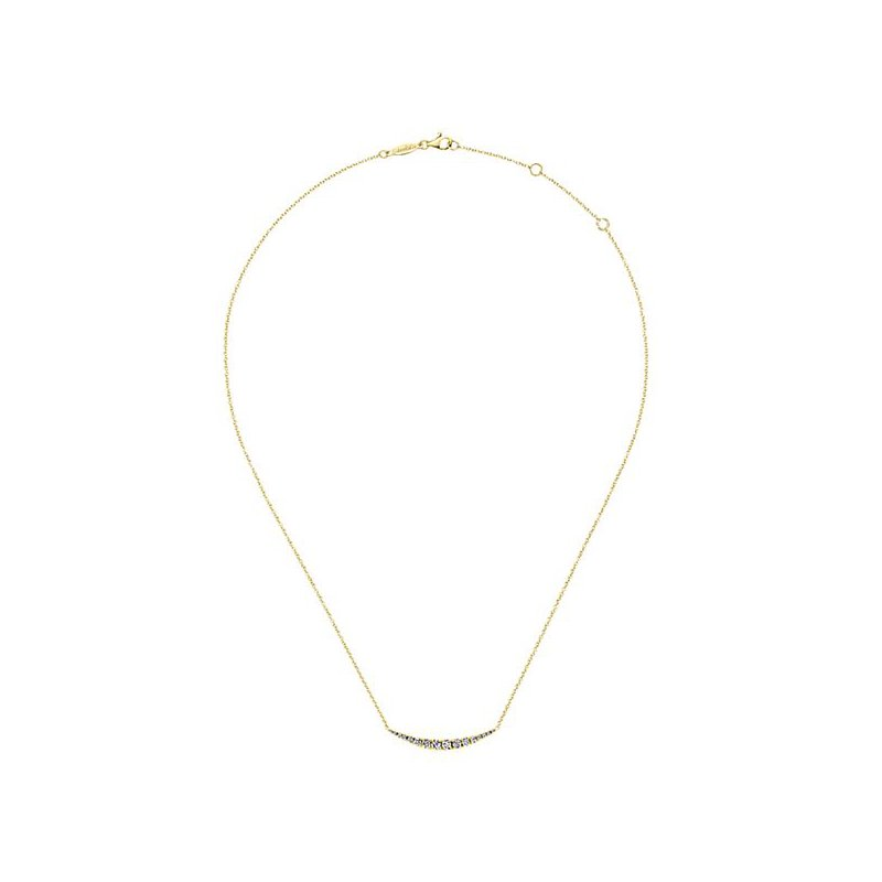 Signature Collection 14k Yellow Gold Indulgence Collection Fashion Diamond Necklace by Gabriel NY