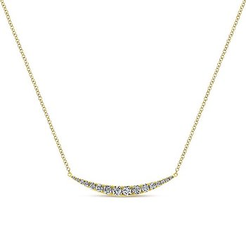 14k Yellow Gold Indulgence Collection Fashion Diamond Necklace by Gabriel NY