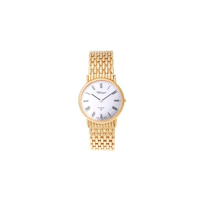 Swiss Watches Classique Gents Stainless Steel Gold Plated Swiss Quartz Watch - #9/123AG