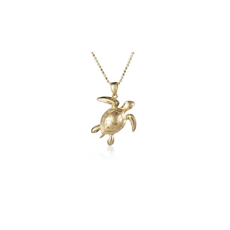 Sealife Jewelry Alamea 14k Yellow Gold Turtle Pendant
