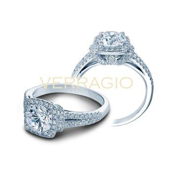 Verragio Couture 0381CU-PLT - Diamond Engagement Ring by Verragio