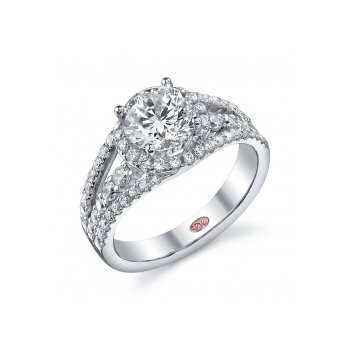 Demarco DW5607 - 18k White Gold Engagement Ring by Demarco