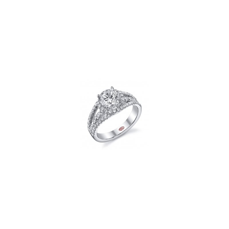 Demarco Demarco DW5607 - 18k White Gold Engagement Ring by Demarco