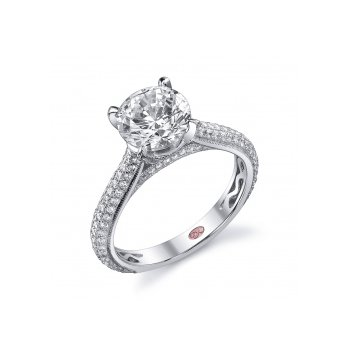 Demarco DW4761 - 18k White Gold Engagement Ring by Demarco