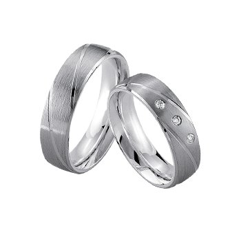 Palladium and Silver 6mm Wedding Band