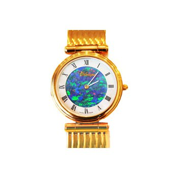 Classique' Watches Genuine Australian Opal Dial Watch - #14-75GP OPD