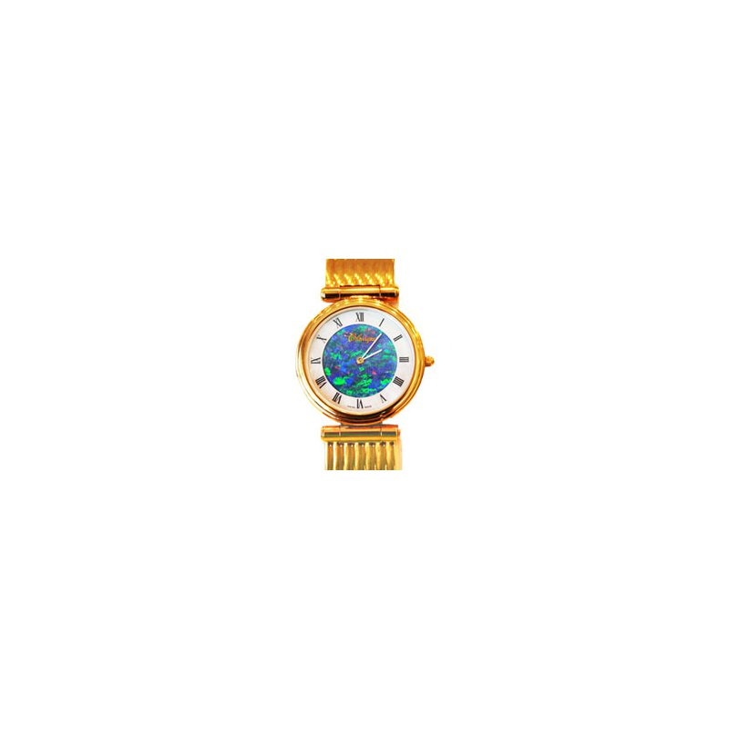 Swiss Watches Classique' Watches Genuine Australian Opal Dial Watch - #14-75GP OPD