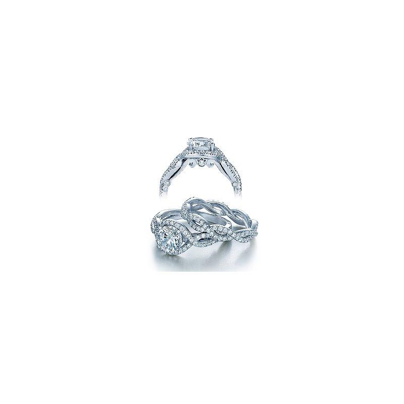 Verragio Verragio Insignia-7040 - 14k White Gold Halo Diamond Twist Band Engagement Ring by Verragio