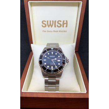 SWISH Swiss Made Watch Rotating Black Bezel - Style #SW101