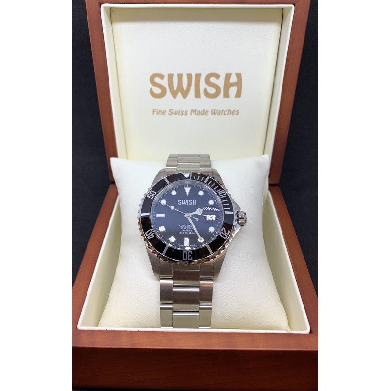 Swiss Watches SWISH Swiss Made Watch Rotating Black Bezel - Style #SW101
