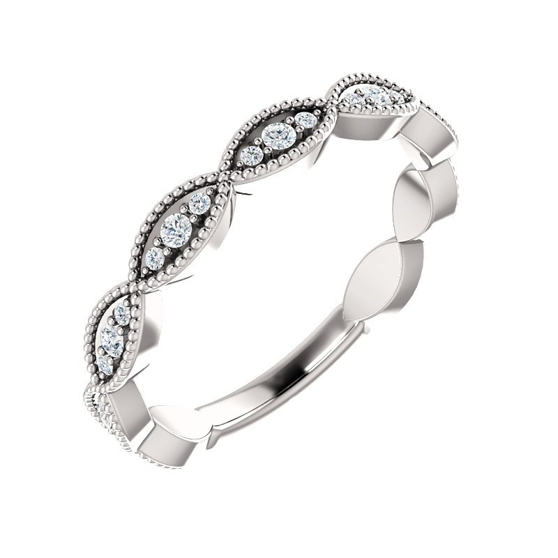 Signature Collection 14k White Gold Infinity Inspired Diamond Wedding Ring from our Stackable Collections