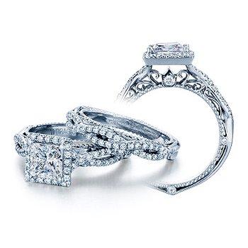 Verragio Venetian-5005P - 14k White Gold Diamond Engagement Ring by Verragio