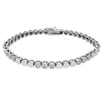 14k White Gold Diamond Bracelet - #24160