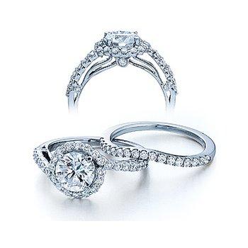 Verragio Couture 0390 - 18k White Gold Diamond Engagement Ring by Verragio