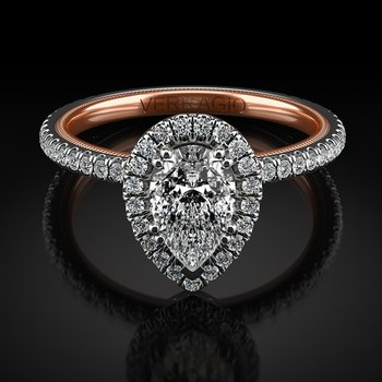 Verragio Tradition Collection Pear Halo Engagement Ring Style #TR120HPS-2WR