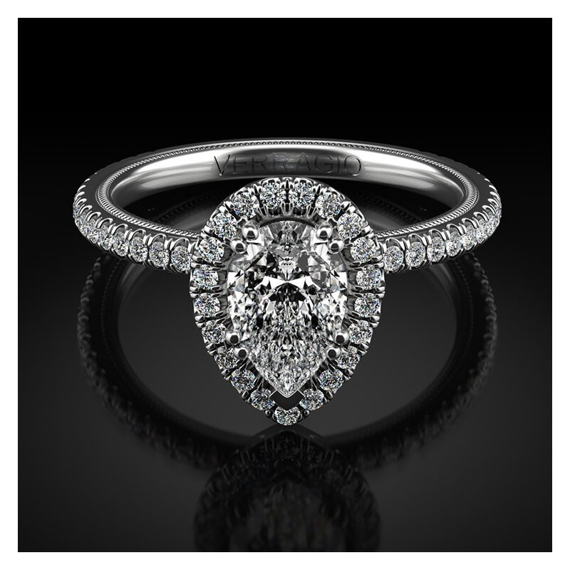 Verragio Verragio Tradition Collection Pear Halo Engagement Ring Style #TR120HPS-2WR