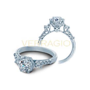 Verragio Classic V-912 RD 7 - Three Stone Diamond Engagement Ring