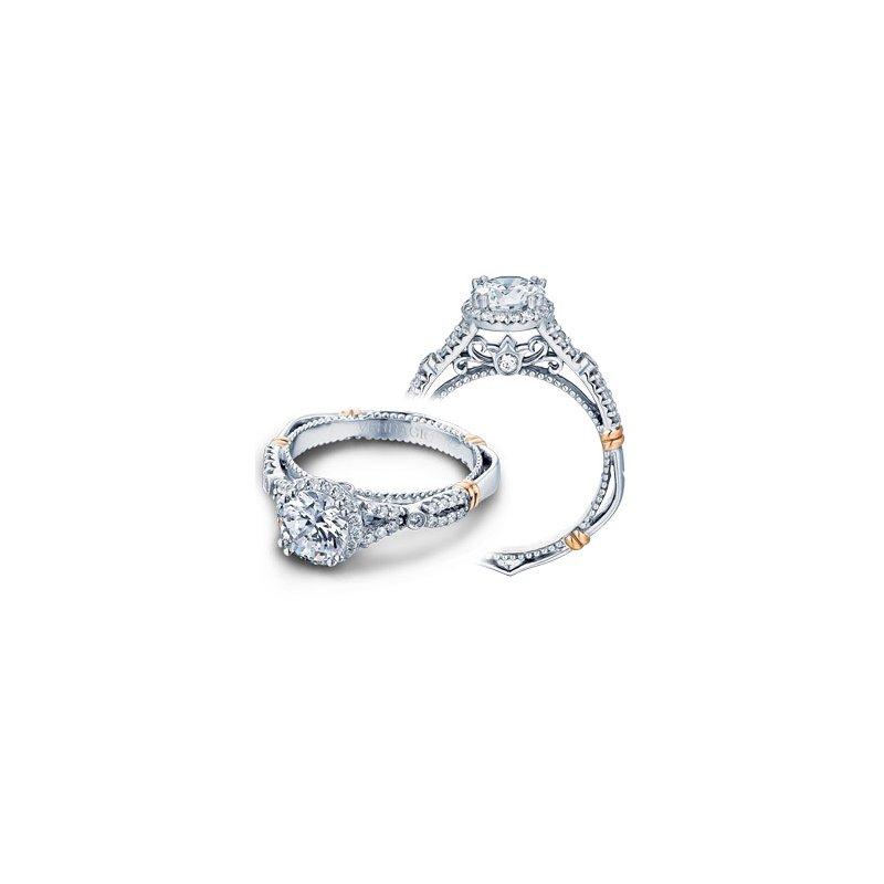Verragio Verragio Parisian D-109R - 14k White and Rose Gold Diamond Halo Engagement Ring by Verragio