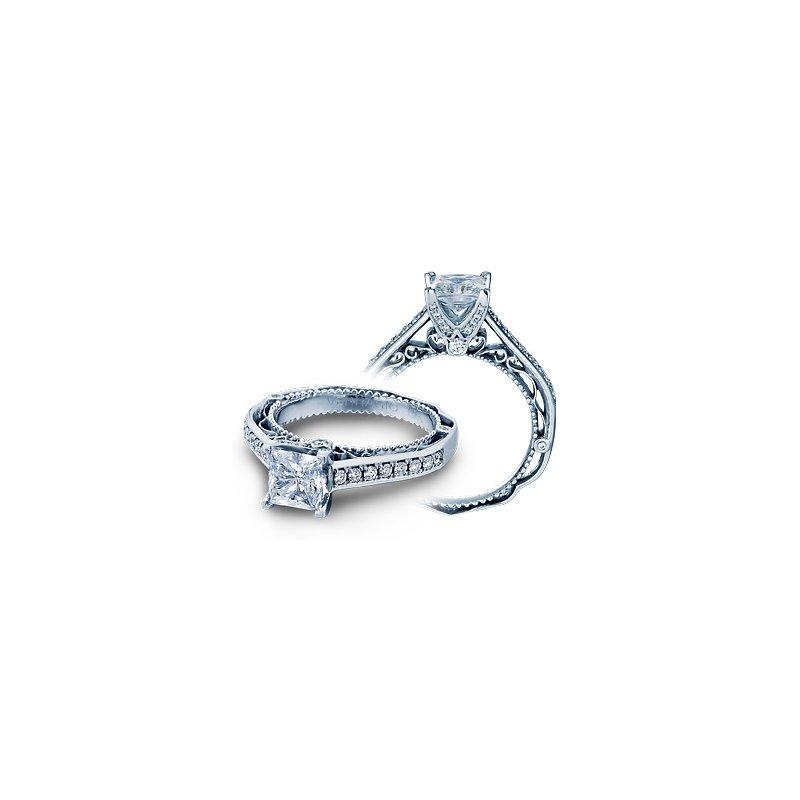 Verragio Verragio Venetian 5035P - 14k White Gold Princess Cut and Pave' Diamond Engagement Ring by Verragio